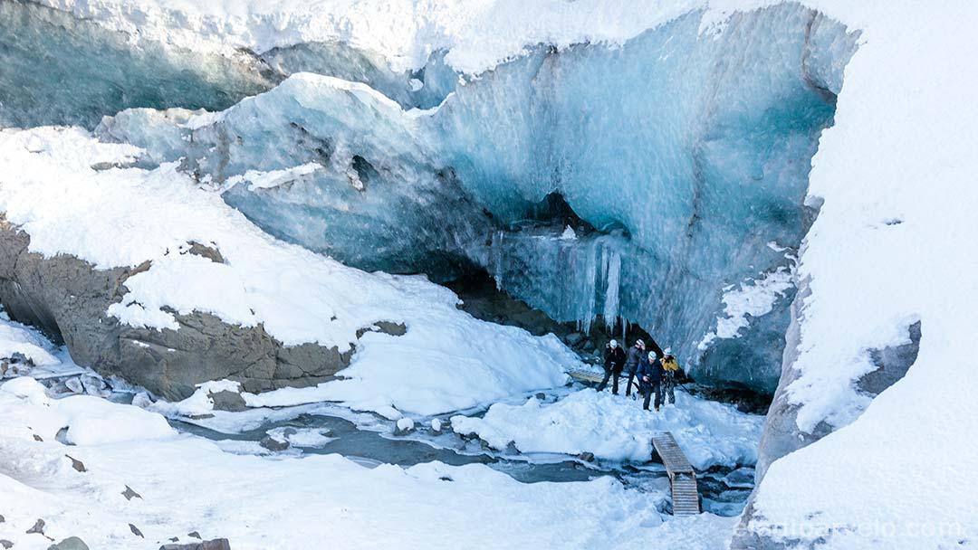 Entrance to ice cave at Vatnajokull National Park.