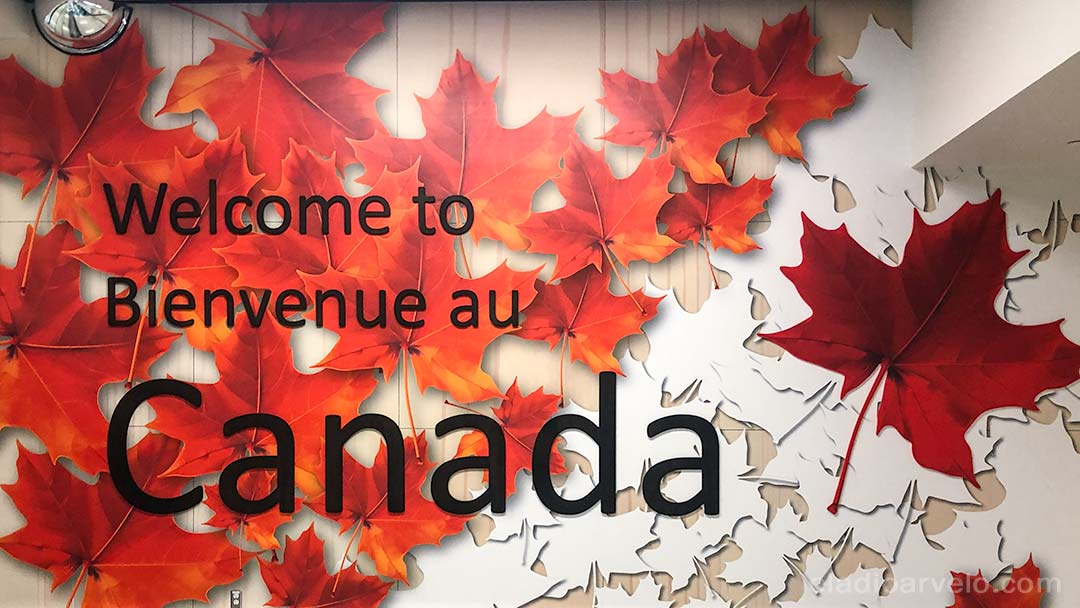 Welcome sign at Calgary's International Airport.
