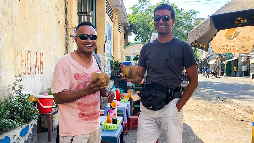 Eladio and Shareef during their documentary film production in Vietnam.