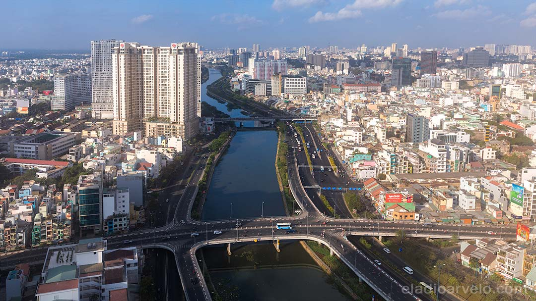 River channel through Ho Chi Minh City.