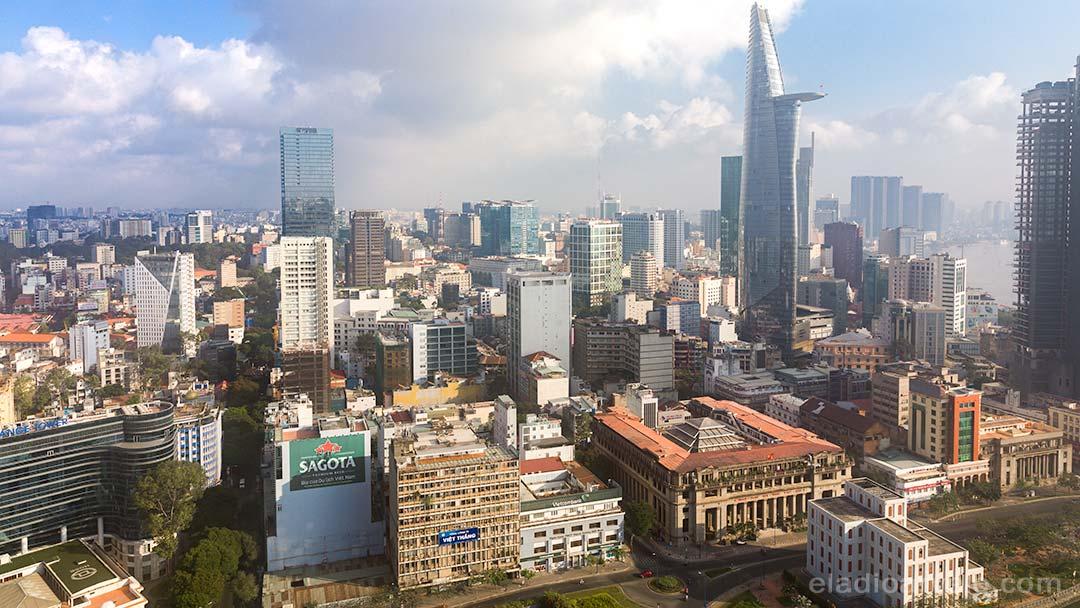 Ho Chi Minh City skyline during daytime.