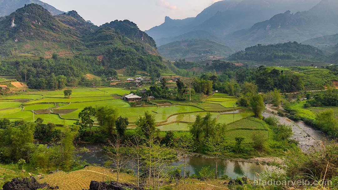 Rice fields in Ha Giang.