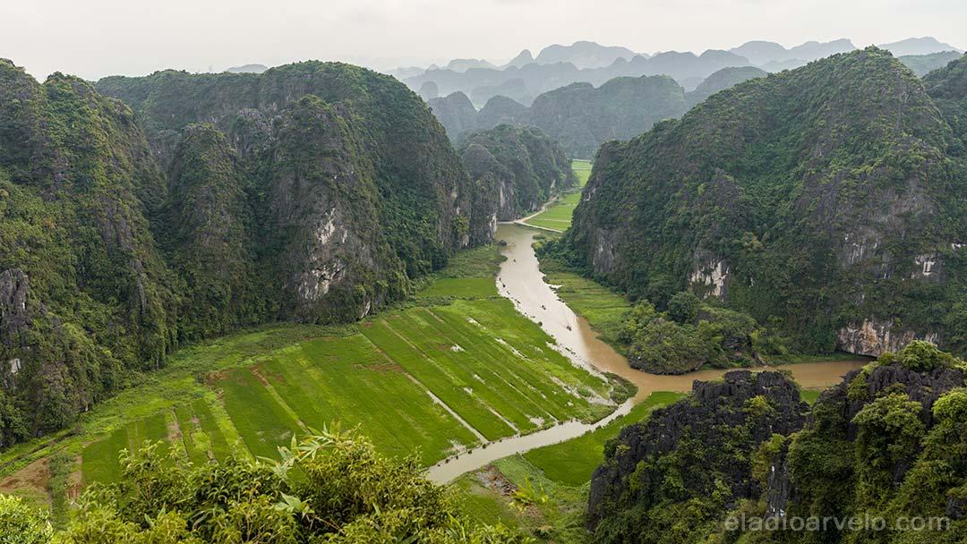 Awe inspiring scenery from Mua Cave viewpoint in Ninh Binh.