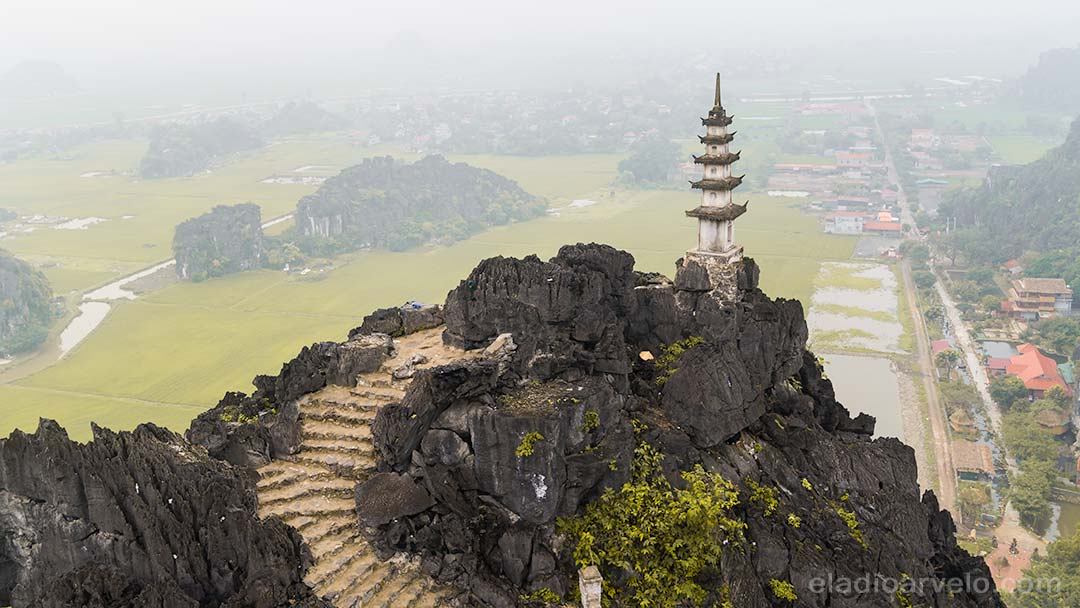 Amazing scenery from Mua Cave Viewpoint in Ninh Binh.